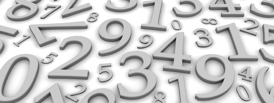 Black and white numbers background. 3d rendered illustration